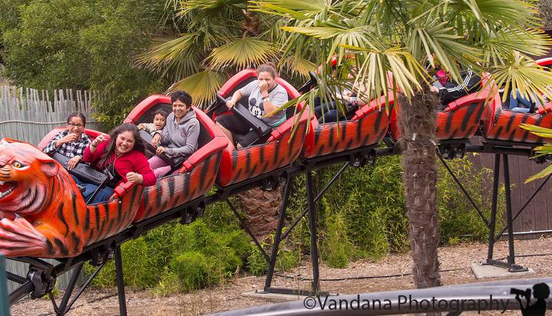 May 17, 2015 - On the Tiger roller coaster ride with Arjun at Oakland Zoo
