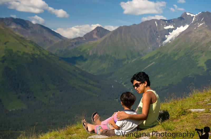 August 3, 2015- a brief introduction to the pleasures of Alaska<br /> <br /> Poor baby has a fever now, though, after the excitement of the flight, weather change and all that, hopefully feels better soon !