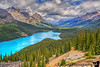 June 24, 2016 - Peyto lake, Banff National Park<br /> <br /> Can't get enough of the Turquoise blue lakes in Banff ! Such beautiful places ! <br /> <br /> Trip to Peyto lake, Columbia Icefields, a walk on the Athabasca glacier, Glacier skywalk,  enroute to Jasper today.