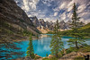 June 23, 2016 - Moraine lake, Alberta, Canada<br /> <br /> a quick, little hike up a stony path got us to the most beautiful turquoise blue lake we have ever seen.. This was Arjun's favorite lake according to him, followed by Lake Louise and Emerald Lake..