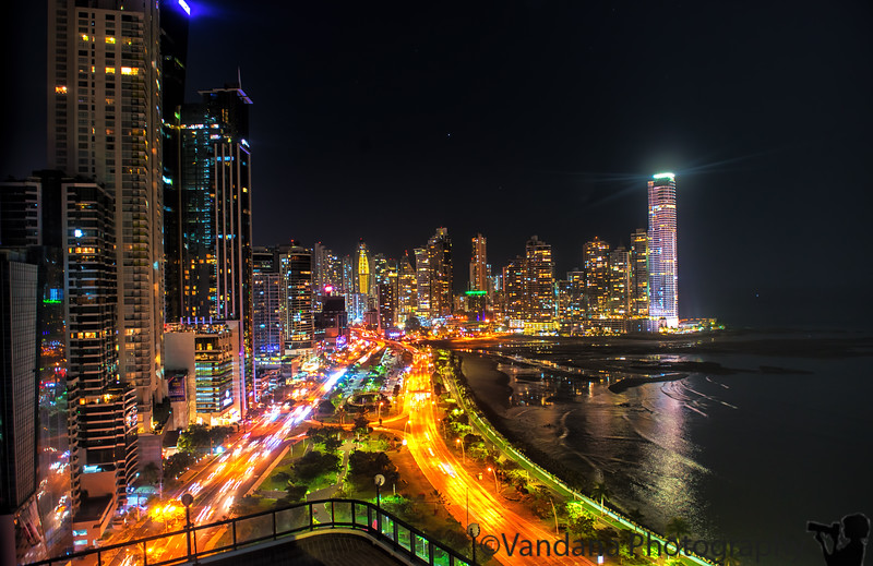 April 8, 2017 - a night in Panama City  taken from our hotel room, without a tripod. lovely stay in Panama. Will love to go back and explore more.   Back home Sunday midnight after a very long flight. Still many pictures to transfer out from camera over the next few days !