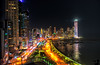 April 8, 2017 - a night in Panama City<br /> <br /> taken from our hotel room, without a tripod. lovely stay in Panama. Will love to go back and explore more. <br /> <br /> Back home Sunday midnight after a very long flight. Still many pictures to transfer out from camera over the next few days !