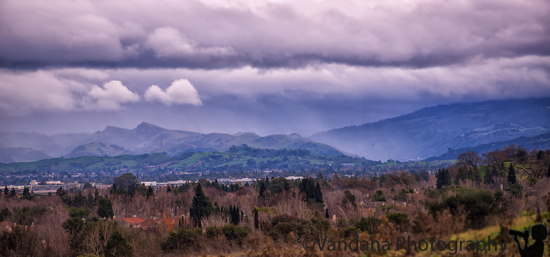January 7, 2017 - Stormy clouds over the mountains