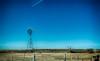 February 11, 2018 - Windmill in a barren landscape