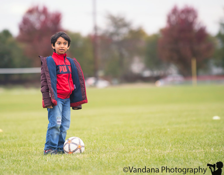 October 18, 2018 - At Soccer Shots on a cold, windy day