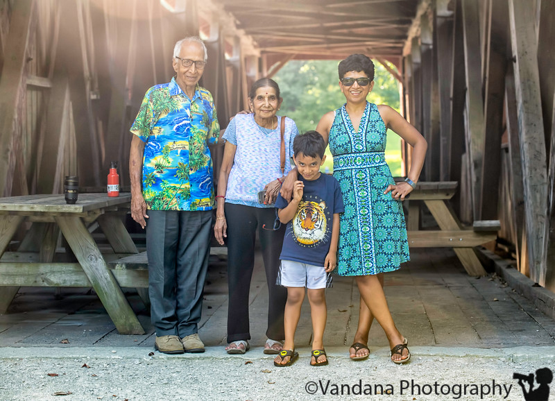 August 12, 2018 - Happy birthday to me ! <br /> <br /> Family photo with parents and Arjun ( mischievous grin!)