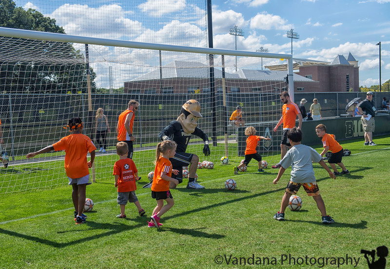 September 21, 2018 - Arjun ( in grey shirt) scoring goals against Purdue Pete