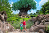 July 12, 2018 - Arjun and me at Animal Kingdom, Disneyworld
