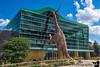 August 31, 2018- Brachiosaurus entering the Children's Museum of Indianapolis