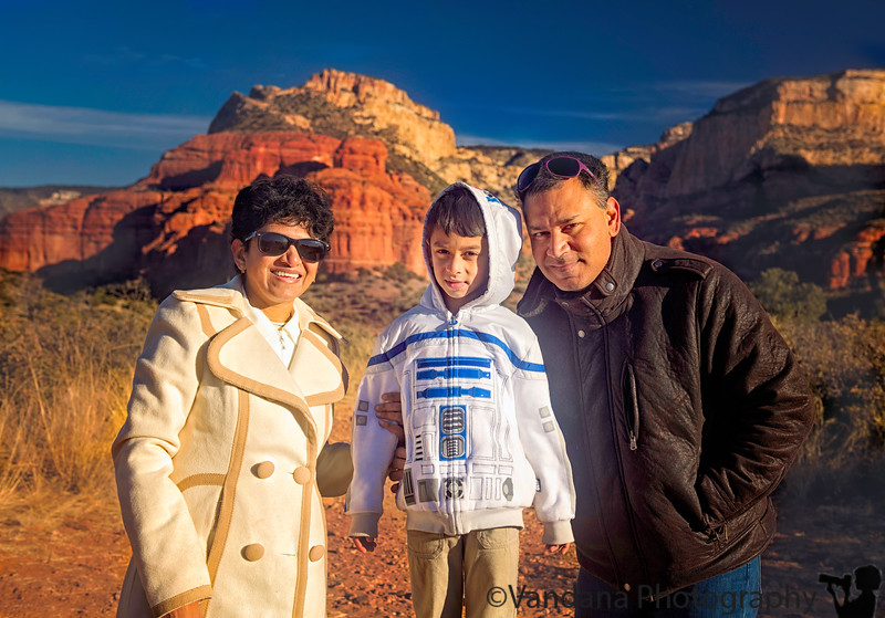January 2, 2018 - the family at Sedona<br /> <br /> after a very cold, windy trip on an open pink jeep !