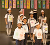 May 17, 2018 - Arjun ( G for Goose!) with friends at music performance, 'Alphabet Adventures of Sometimes Y' at school