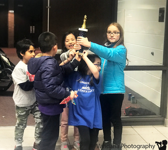 Feb 26, 2019 - 2nd prize ( by 0.5 points) at Chess team regionals