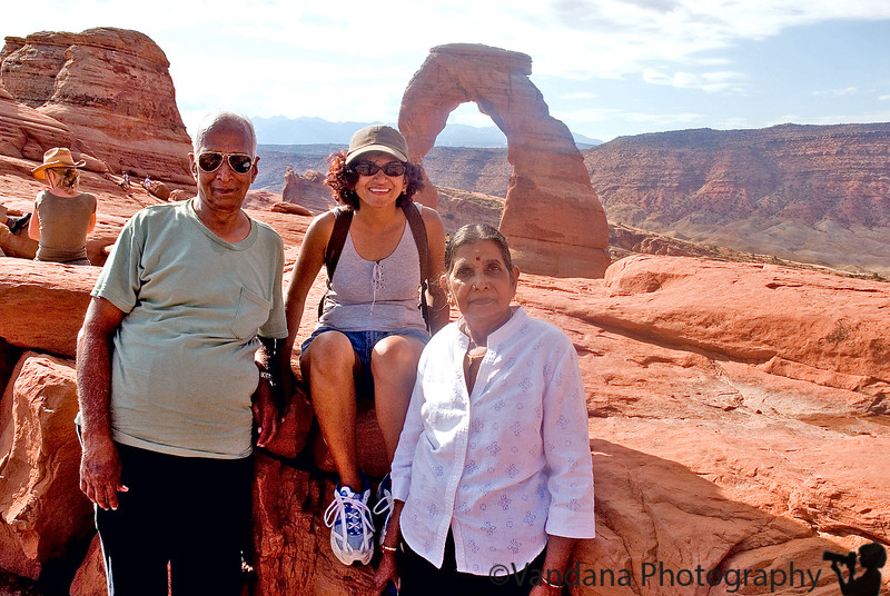 May 16, 2019 - Amma, Appa and I at Delicate Arch, Arches National Park. 2006.