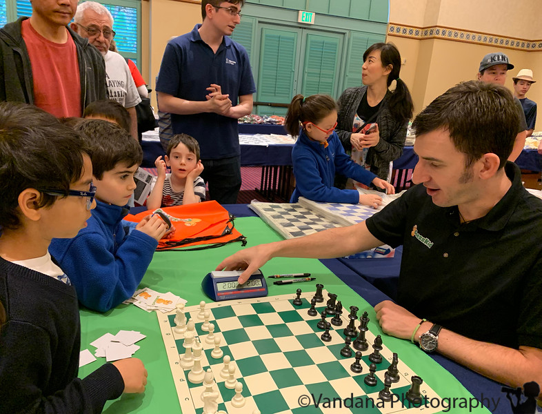 November 27, 2019 - A meets and plays his hero, FunMasterMike at K-12 Chess National Championships , Florida - taken December 13, 2019