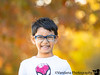 September 30, 2019 - the grin with fall bokeh behind him
