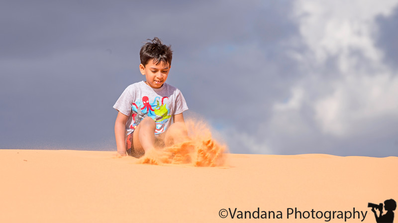 July 5, 2019 - Playing with sand