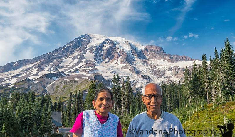 May 14, 2019 - With Mt. Rainier, Washington
