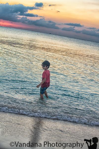 December 20, 2019 - At Seven mile beach, Grand Cayman