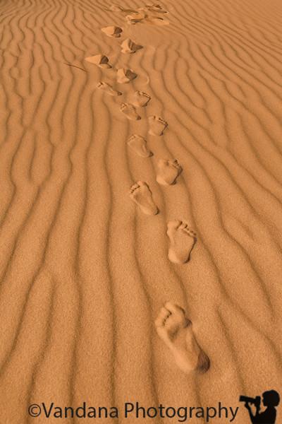 June 28, 2019 - A's footsteps on sand