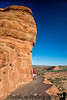 August 31, 2019 - A and K on the narrow ledge, Delicate Arch Trail, Arches National Park, UT
