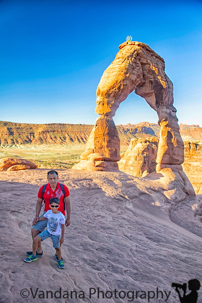 August 26, 2019 - A and K with Delicate Arch