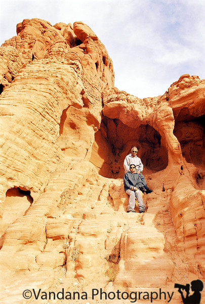 May 9, 2019 - At Valley of Fire, Nevada - can't imagine how Amma and Appa scrambled up to the top over those rocks !