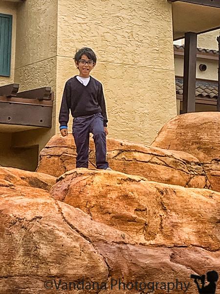 November 30, 2019 - Climbing rocks