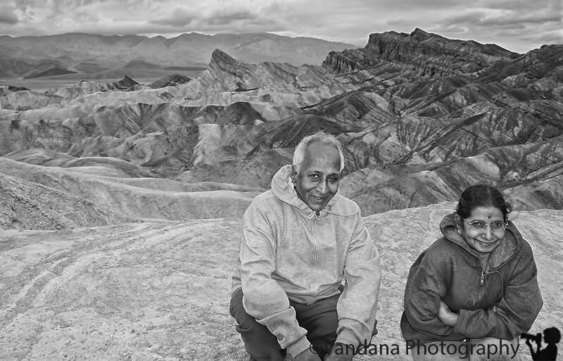 May 8, 2019 - Amma at Zabriski Point, Death Valley National Park