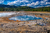 July 27, 2020 - Biscuit Basin, Yellowstone National Park, WY<br /> <br /> so beautiful, lovely weather, much more crowded than Grand Tetons