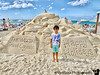 January 16, 2020 - A at Seven mile beach sand sculpture