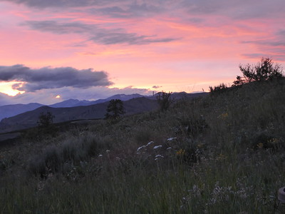 Sunset in Chelan, WA (before edit).  Cameras see such a limited range...