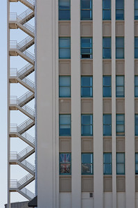 Building and fire escape, San Jose (editing step 2)