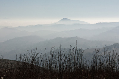 Santa Cruz Mountains from Coyote Peak