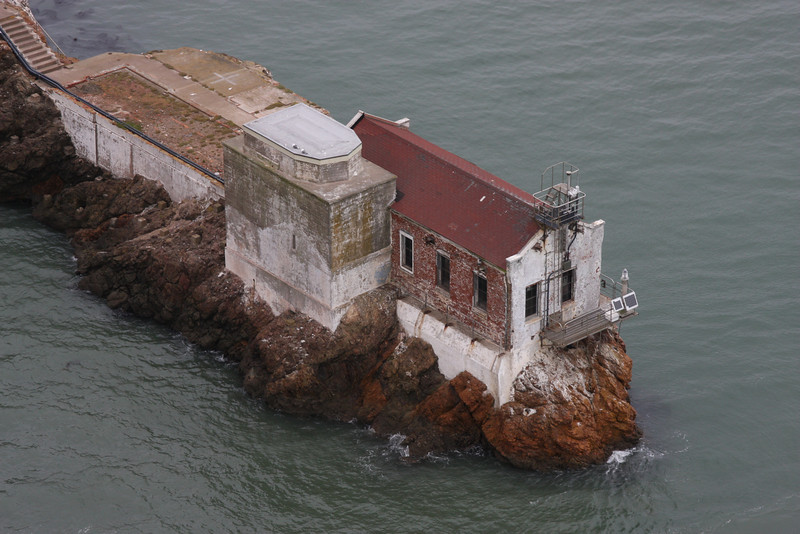 Original. A cool old brick building on interesting stones in the middle of the bay. But kind of dull and washed out.