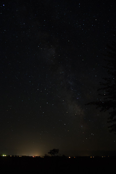 Milky Way photo as the camera thinks it should be seen