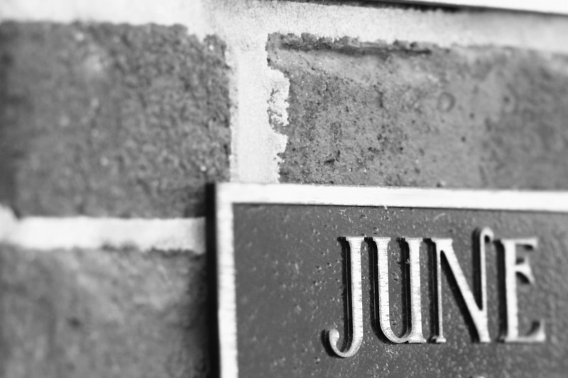 March 26, 2010: Today's Photo du Jour is brought to you by the letter J! This is from a building placard that I found in Winter Garden.