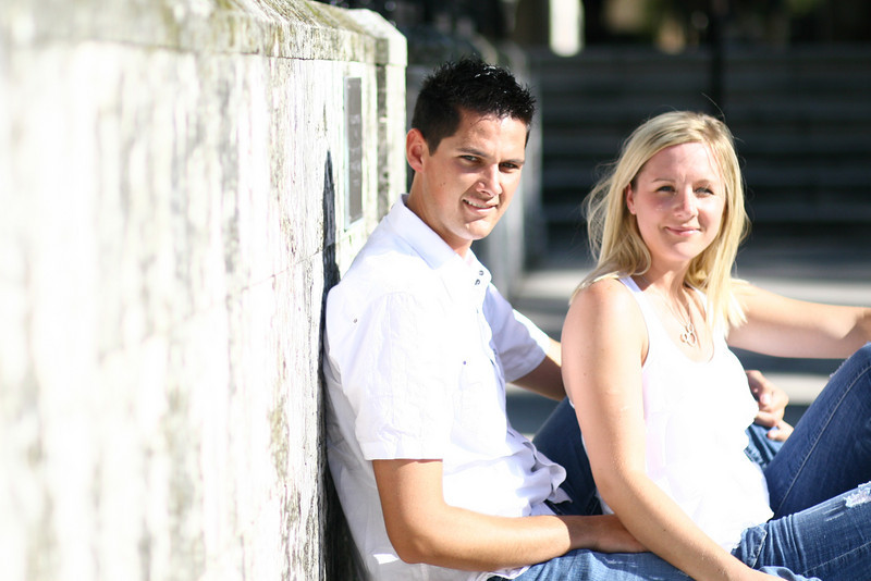 June 18, 2010: I've referenced them enough, here are Adrienne and James! This photo was taken during their engagement shoot at a church near the beach.