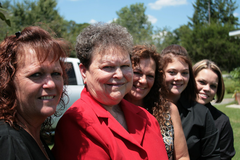November 26, 2009: Today's photo is the ladies in my family – (from left to right) my Mom, Nanny, Aunt Pam, Lauren, and Stacy.