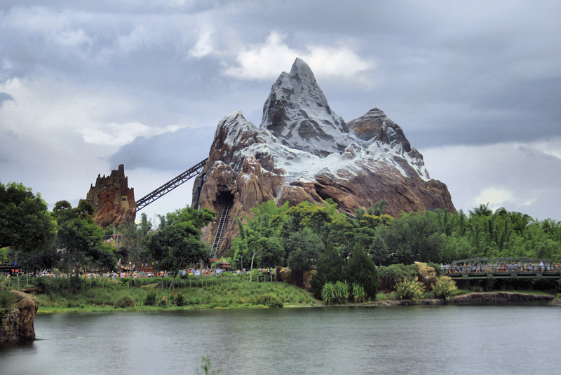 July 27, 2009:  I captured this image of Expedition Everest yesterday just before the rain started up again at Animal Kingdom.