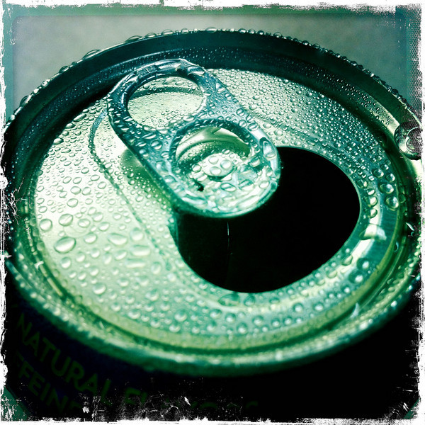 August 25, 2010: Today's photo happens when you turn a can of Sprite upside down over the soda after you've poured it out and use a cool iPhone app.
