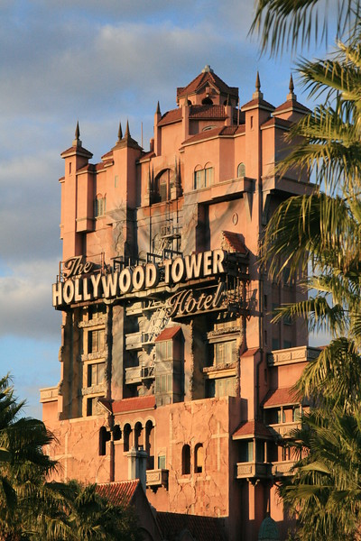 April 1, 2009:  Today's photo comes from Disney's Hollywood Studios - The Twilight Zone Tower of Terror.  Fun Fact:  The attraction has 4 ride cycles that are randomly selected each time, even the Cast Members don't know which version of the ride you will experience.