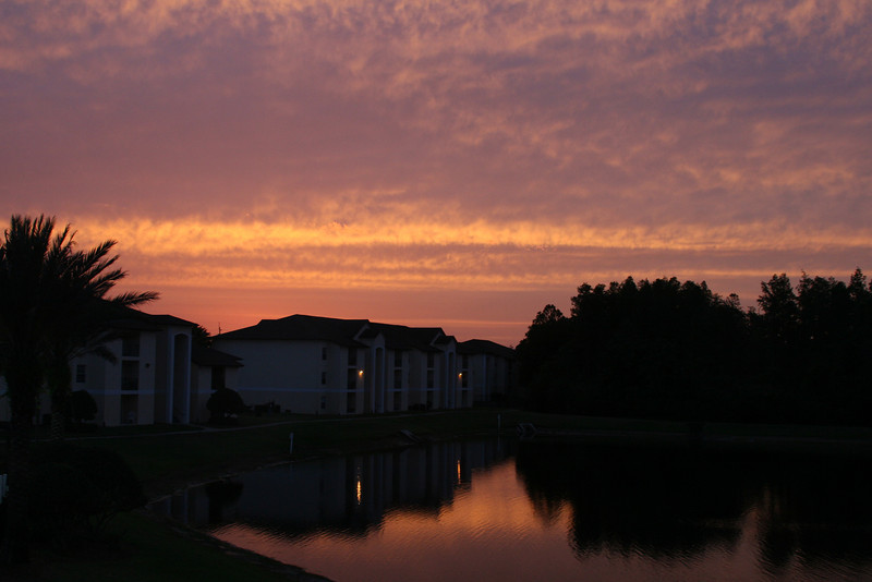 June 29, 2009:  Today's photo was taken back in April from my apartment window as the sun set…beautiful!