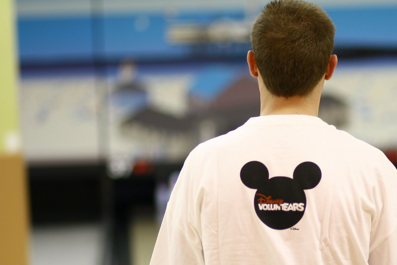 March 2, 2010: Here's another photo from this weekend's Bowl-A-Thon. This is a shot of the Disney VoluntEARS shirts.<br /> <br /> Today's photo marks ONE YEAR since I started sending my Photo du Jour!