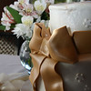 October 27, 2009:  Here's a photo of the wedding cake from this weekend.