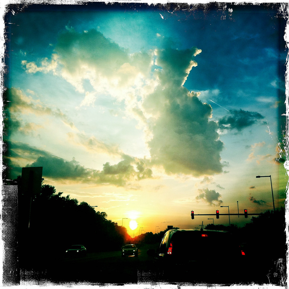 September 14, 2010: Here's another photo from my iPhone app. This was taken last week as I was leaving Hollywood Studios for the night. That's the great thing about these Florida summer-time thunderstorms - the sunsets!