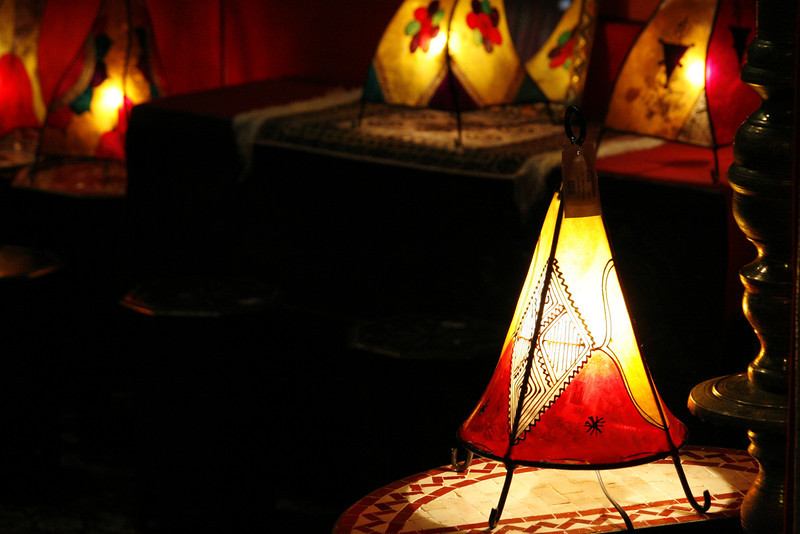 November 9, 2010: I had to dig back in my photos to find something to send today! I'm running low because I haven't been shooting for fun too much lately. This is a photo that I took when I first got the Canon 30D. It's a photo of a lamp in a gift shop in the Morocco Pavilion at Epcot.