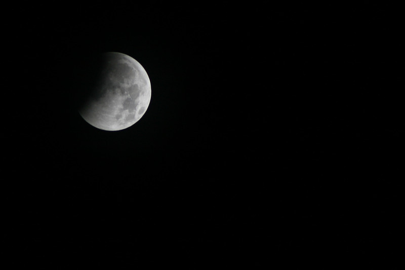 January 12, 2011: It's a little late, but here's a photo of the lunar eclipse from a couple of weeks ago. As you can see, I didn't stay up for the whole event.