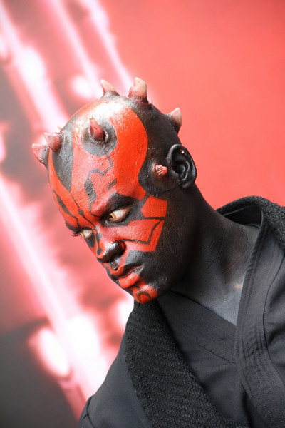 May 27, 2010: This is Darth Maul. He's very intimidating while on-stage.