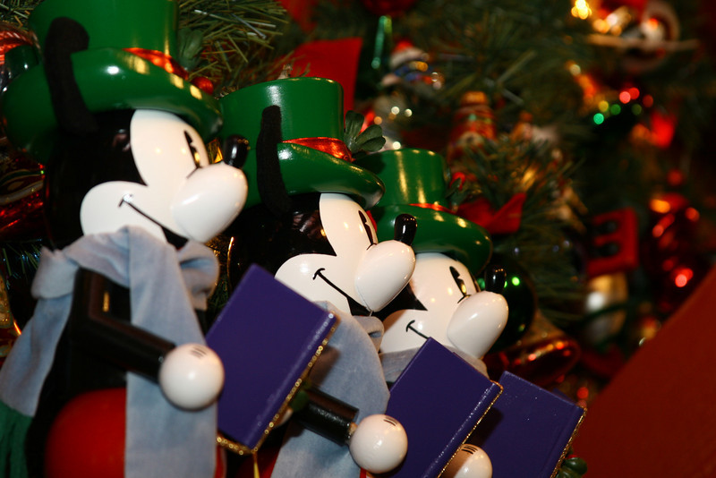 December 23, 2009: Only a few more days to go!  You better break out your song books and prepare for all the caroling!  Today's photo is a group of Mickey Mouse nutcrackers at Epcot.