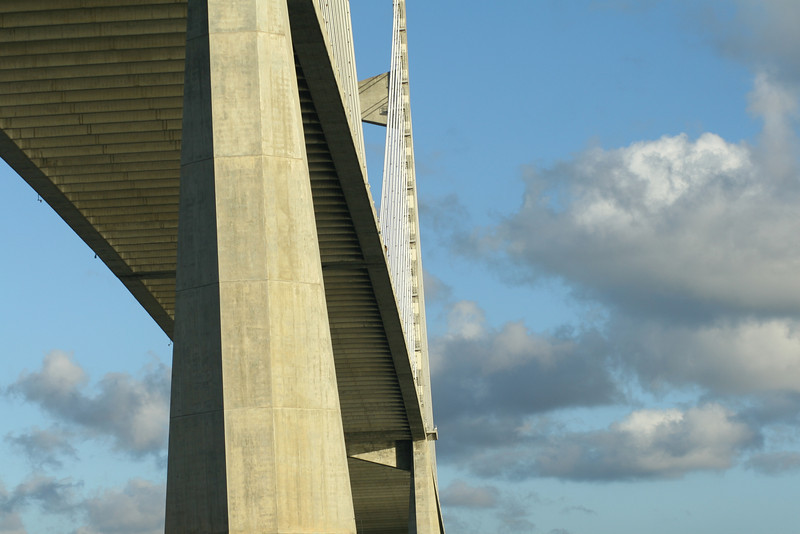 July 13, 2010: This is a shot from under the Dames Point bridge in Jacksonville from one of the shoots last week.
